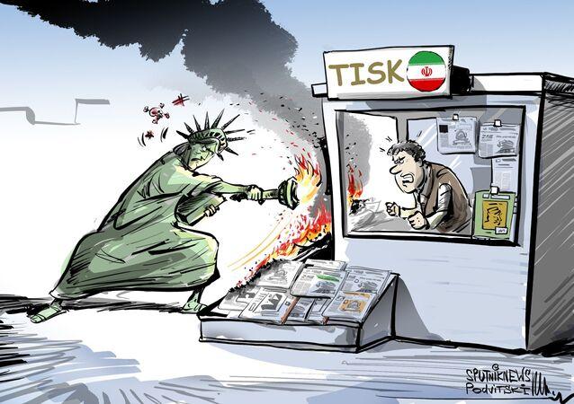 """Ministerstvo financí USA prosazuje """"mediální terorismus"""" vůči íránskému tisku"""