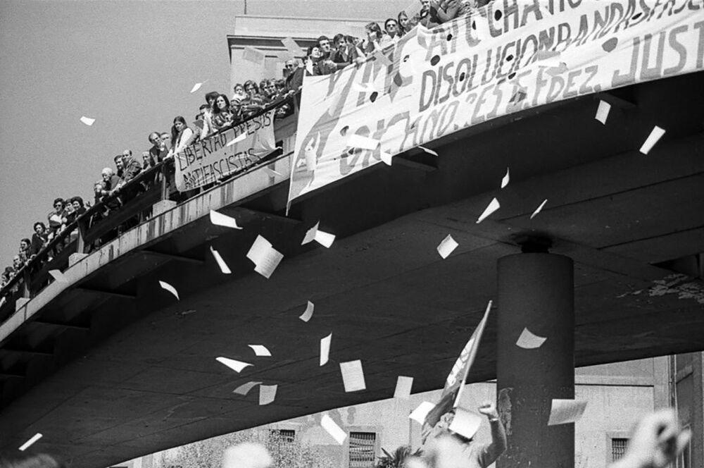 Demonstrace na 1. máje ve Španělsku, 1979