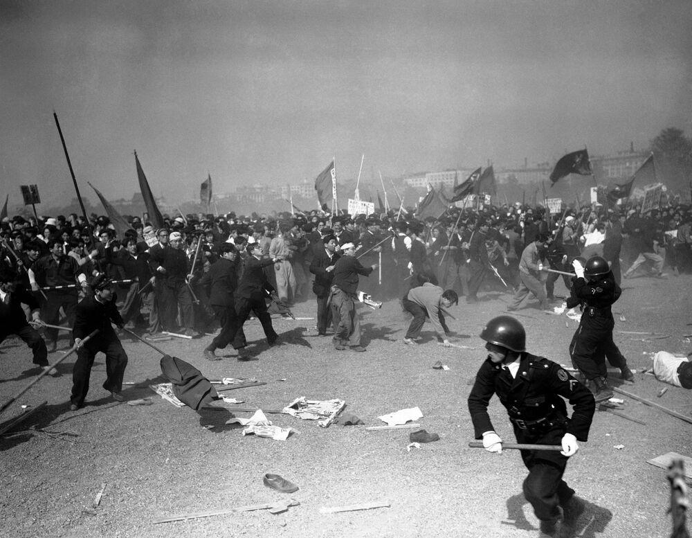 Potlačení demonstrace 1. máje v Tokiu, 1952