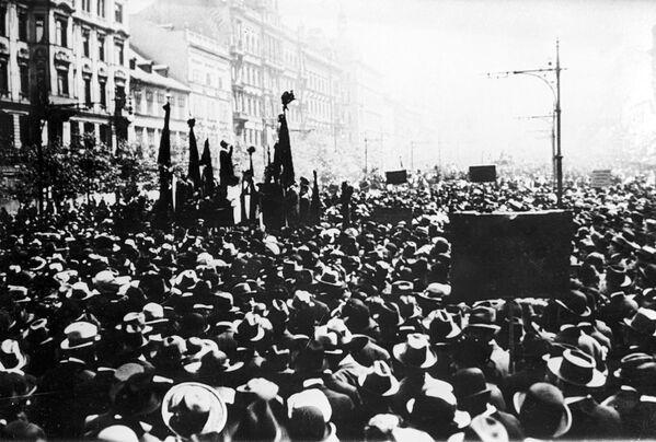 Prvomájová demonstrace v Praze, 1921 - Sputnik Česká republika