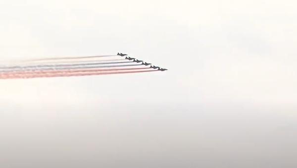 V Moskvě se konala zkouška letecké části přehlídky Vítězství - Sputnik Česká republika