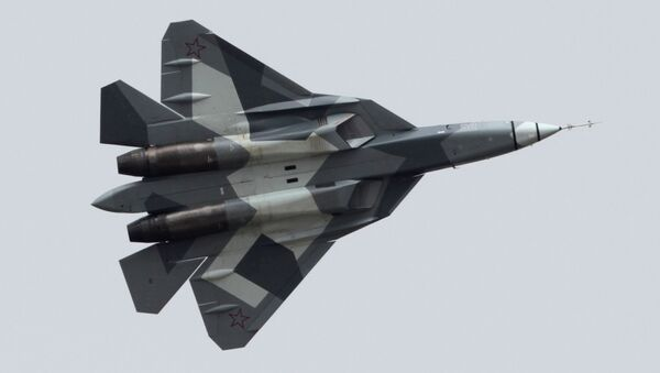 Stíhačka T-50 (PAK FA) – dvoumotorový stíhací letoun 5. generace - Sputnik Česká republika
