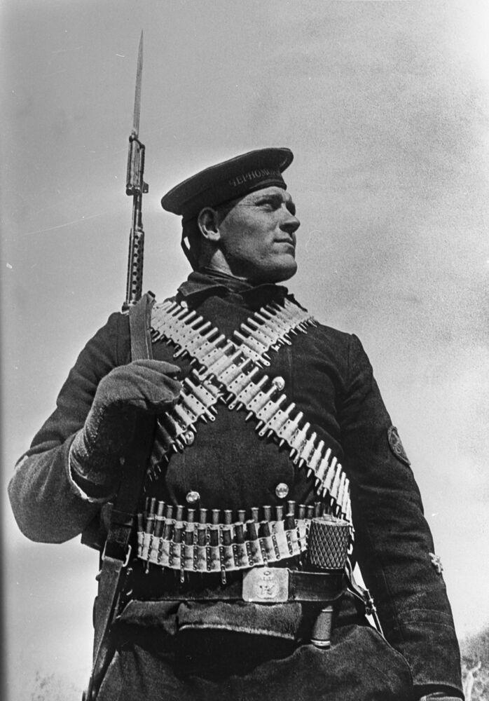 Obránce Sevastopolského námořního sboru Fedor Vidmira, 1941