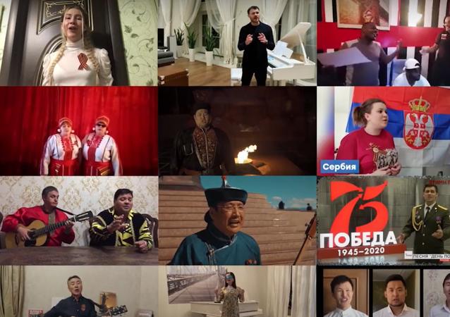 Sovětskou válečnou píseň zazpívali v 29 jazycích po celém světě