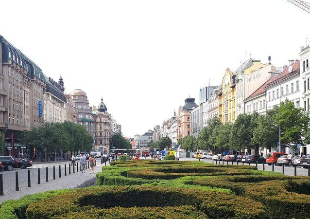 Václavské náměstí v Praze v době koronaviru