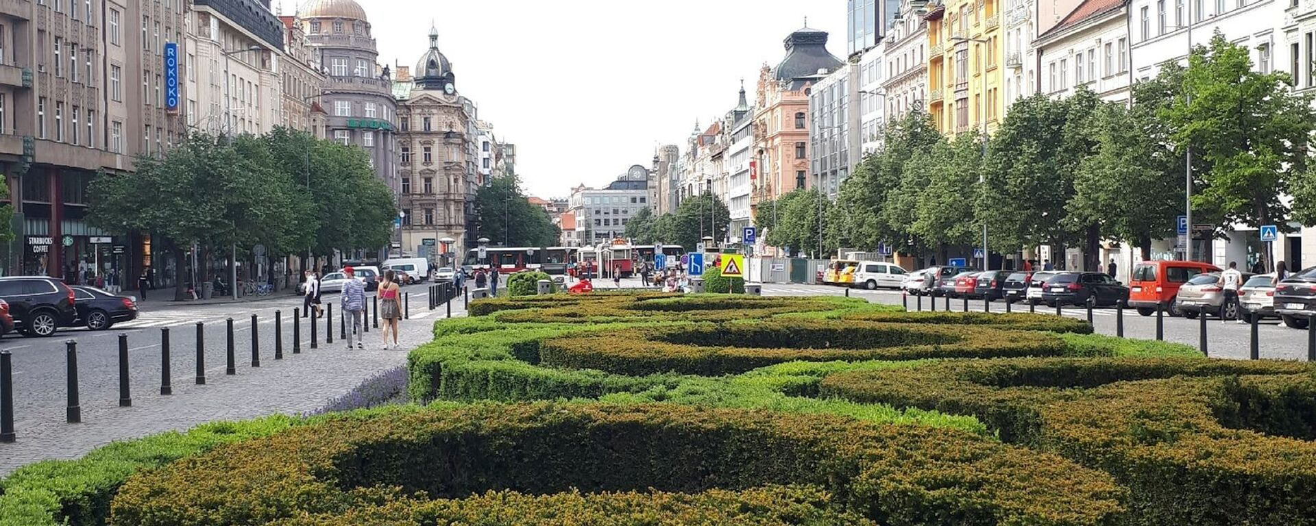 Václavské náměstí v Praze v době koronaviru - Sputnik Česká republika, 1920, 14.05.2021