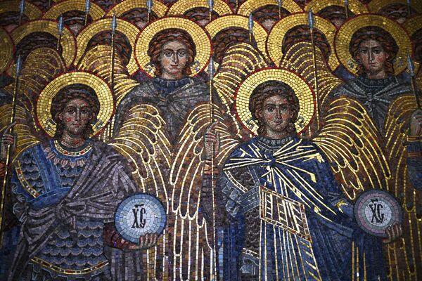 Mozaika v chrámu Ozbrojených sil Ruské federace. - Sputnik Česká republika