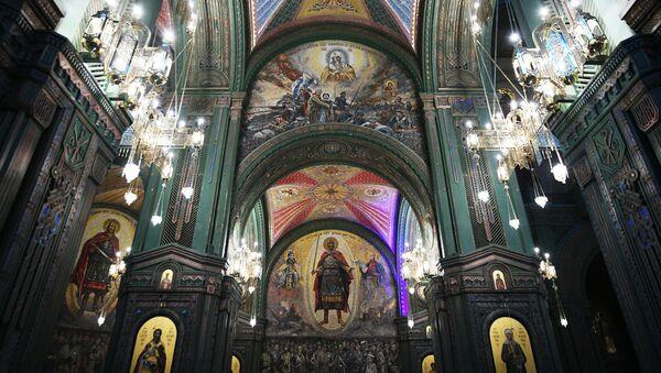 Hlavní chrám Ozbrojených sil Ruské federace se nachází v kongresovém a výstavním centru Patriot v Moskevské oblasti. - Sputnik Česká republika