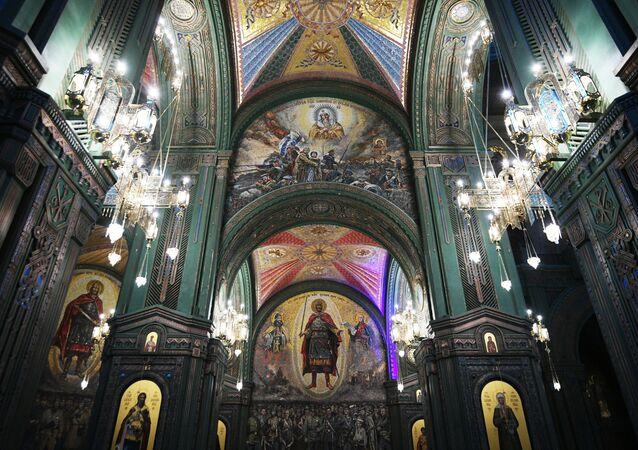 Hlavní chrám Ozbrojených sil Ruské federace se nachází v kongresovém a výstavním centru Patriot v Moskevské oblasti.