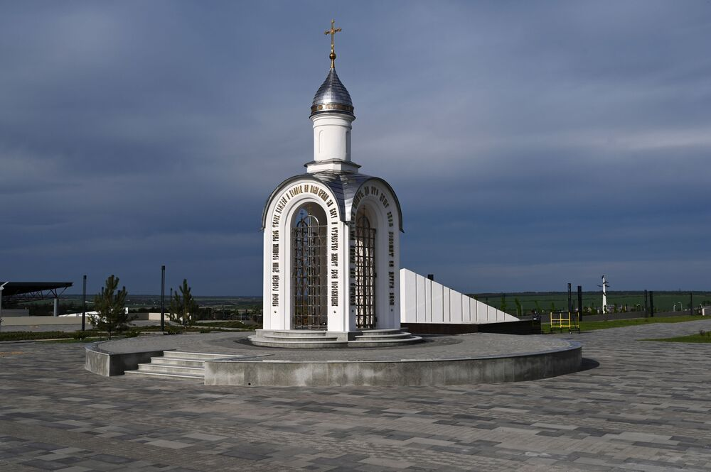 Kaple v areálu vojensko-historického muzejního komplexu Sambecké výšiny v Rostovské oblasti.