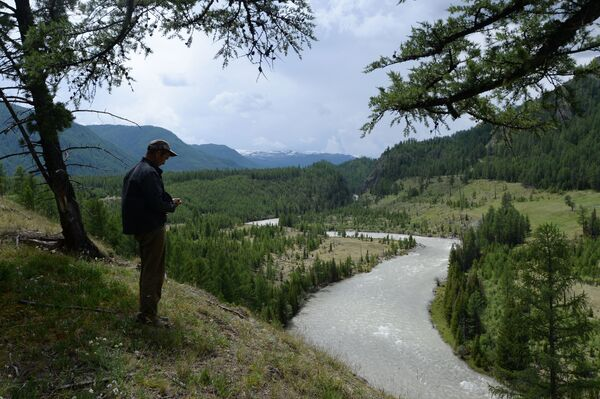 Řeka Argut v Altajské republice v Rusku - Sputnik Česká republika
