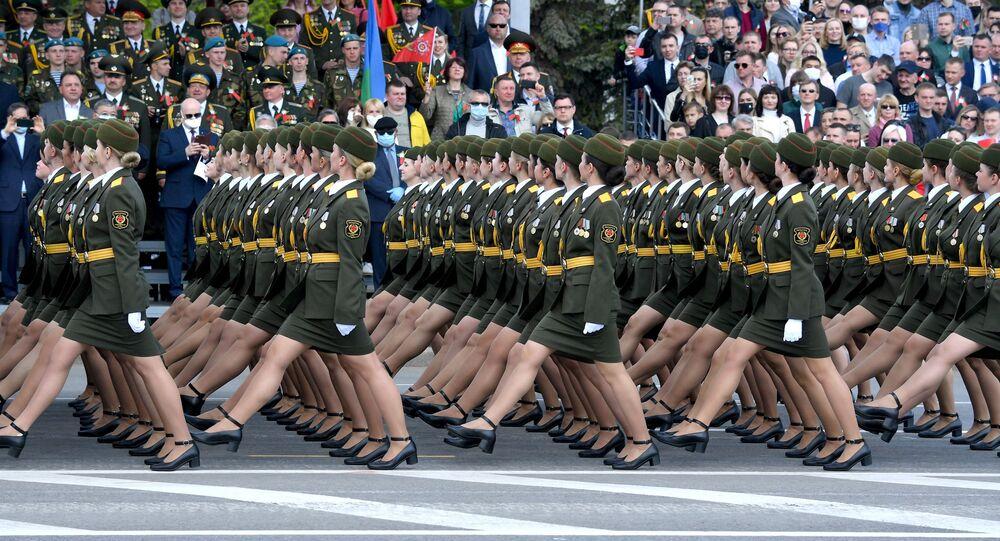 Vojenská přehlídka v Bělorusku při příležitosti 75. výročí konce Velké vlastenecké války