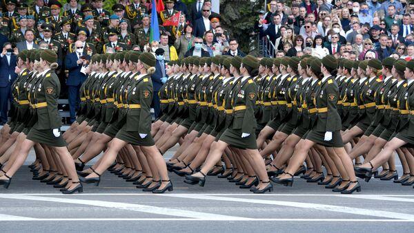 Vojenská přehlídka v Bělorusku při příležitosti 75. výročí konce Velké vlastenecké války - Sputnik Česká republika