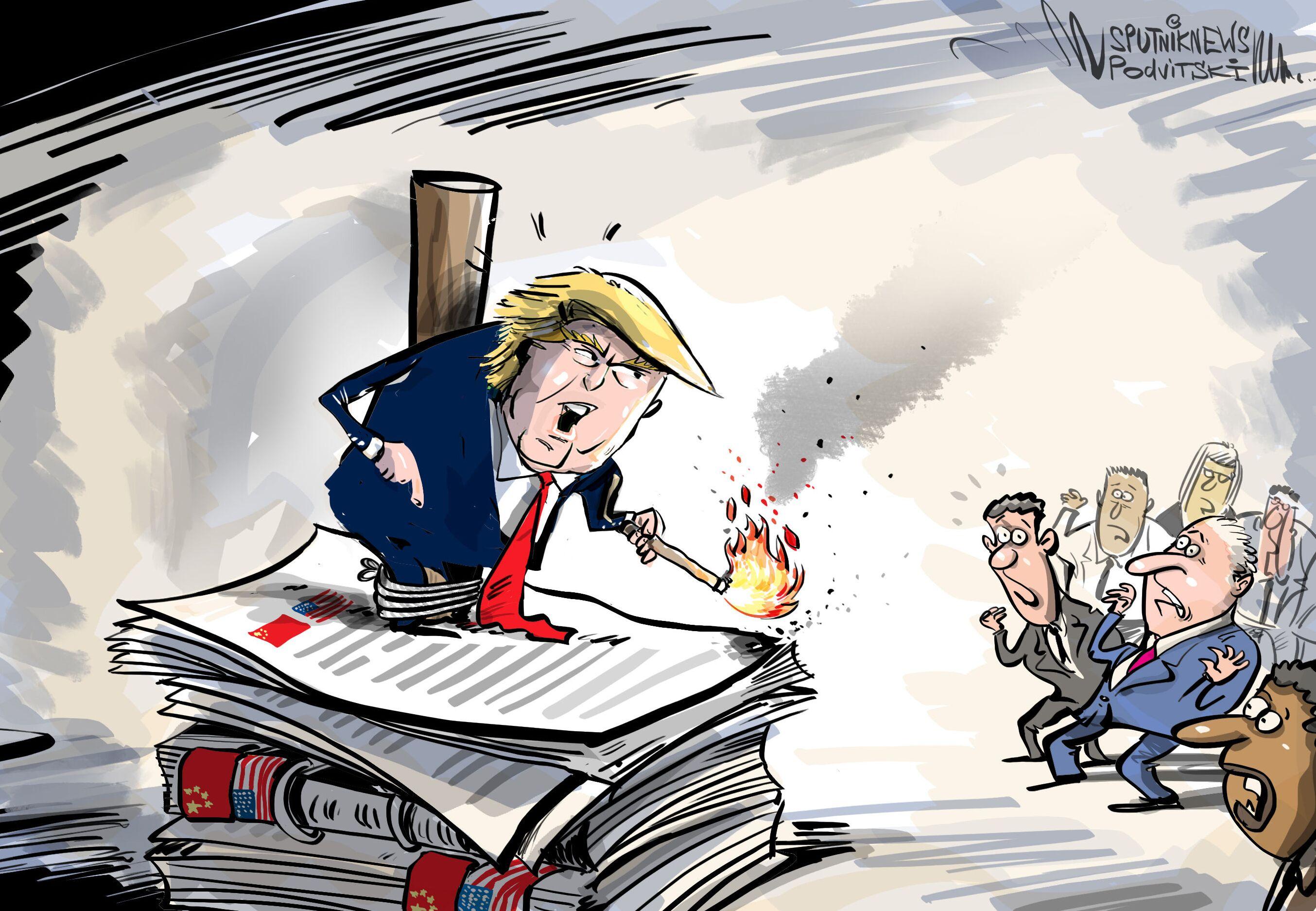 Trump hrozí přerušením vztahů s Čínou