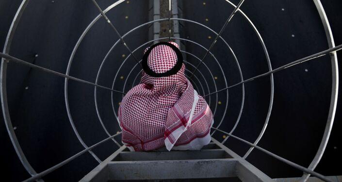Muž na mostě v Rijádu, Saúdská Arábie