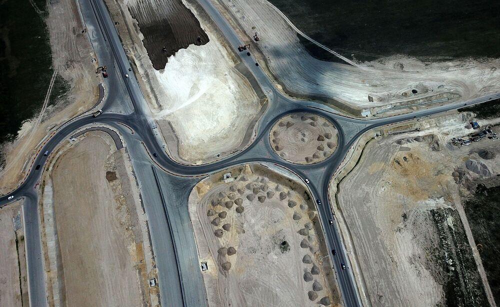 Výstavba nadjezdu Tavrida na Krymu: velký projekt z ptačí perspektivy