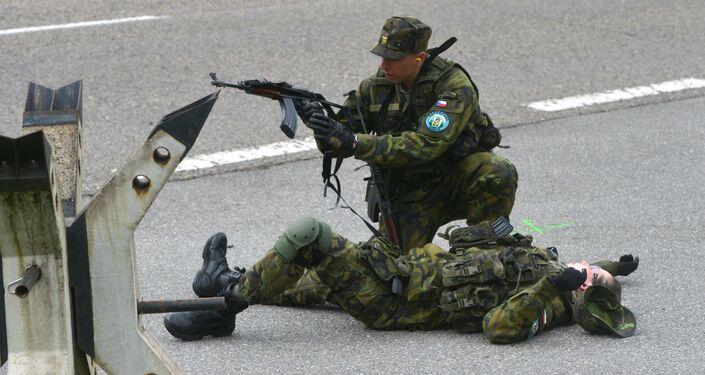 Čeští vojáci během protiteroristických cvičení