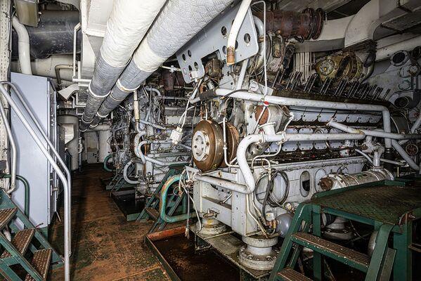 Nejnižší prostor podpalubí vojenské lod - Sputnik Česká republika