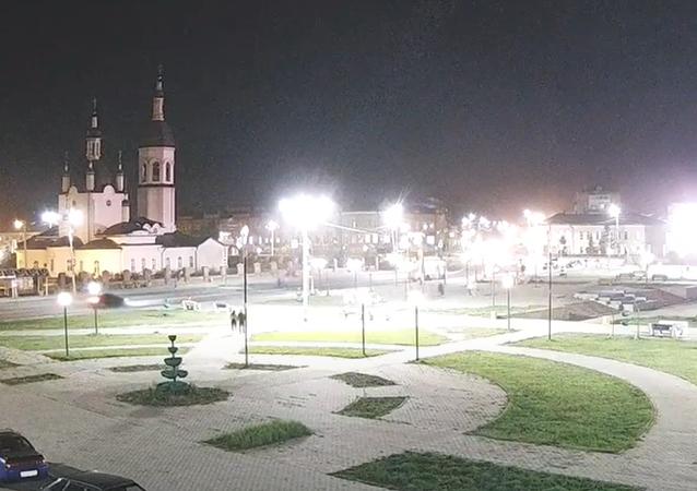Pád nebeského tělesa na Sibiři se dostal na video