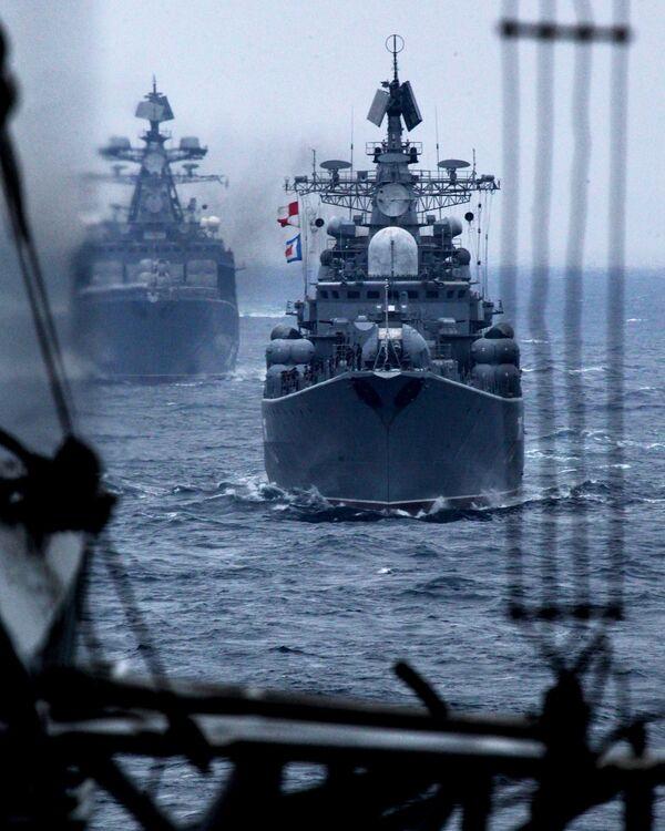Rusko-čínské cvičení v rámci námořní spolupráce v roce 2015 ve Vladivostoku - Sputnik Česká republika