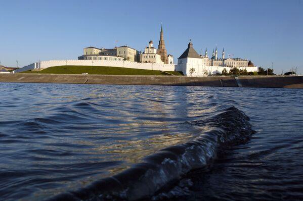 Výhled na Kazaňský kreml z Volhy  - Sputnik Česká republika
