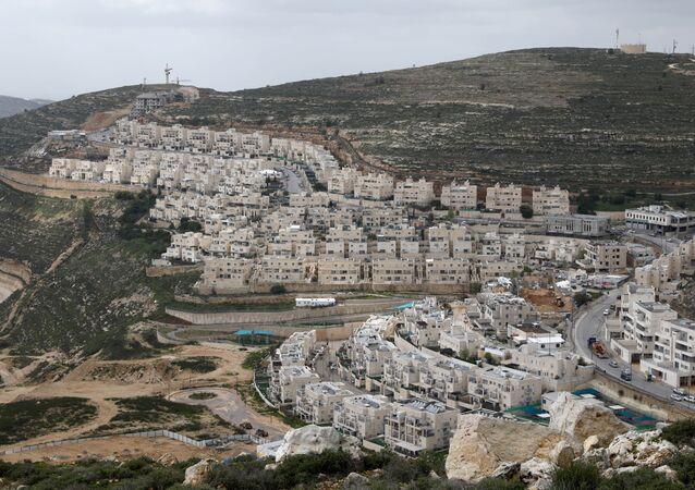 Budovy na Západním břehu Jordánu