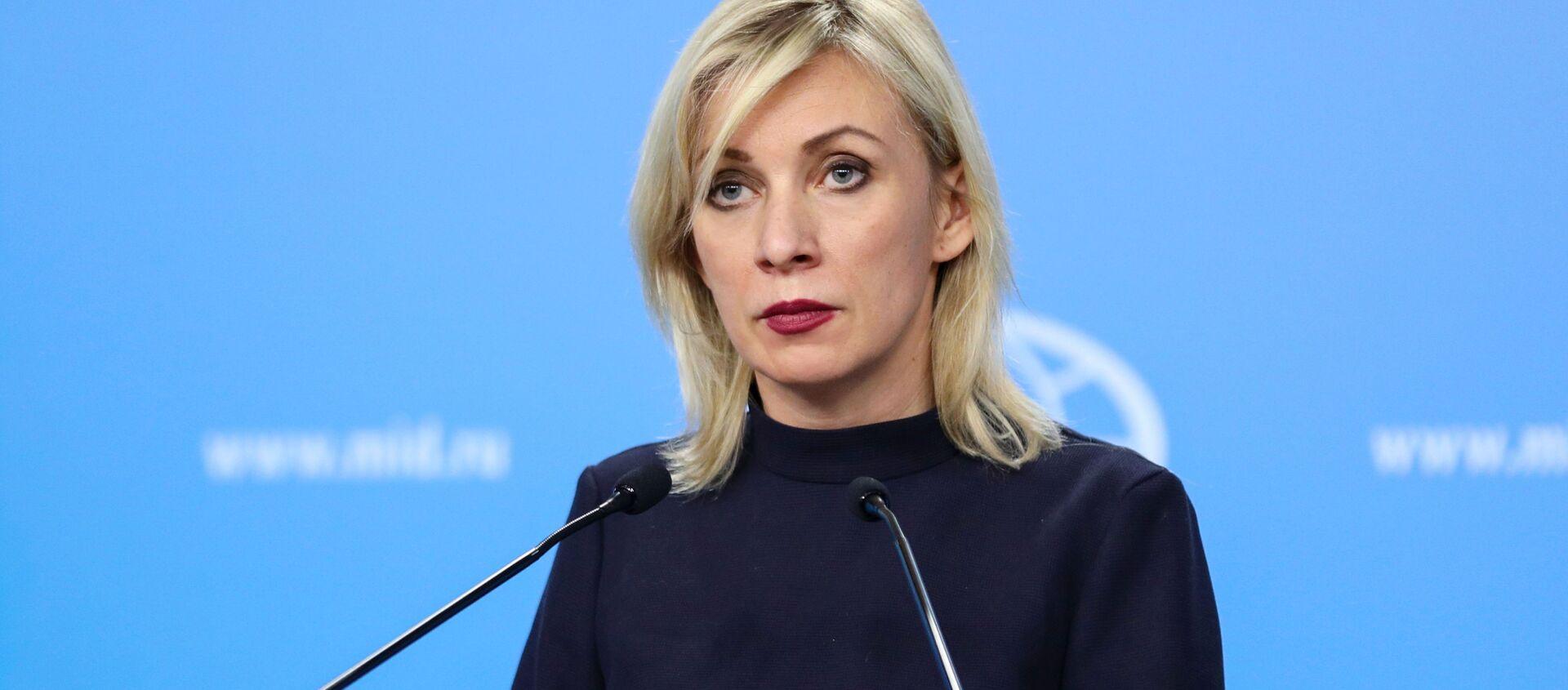 Mluvčí ruského ministerstva zahraničí Maria Zacharovová - Sputnik Česká republika, 1920, 01.04.2021
