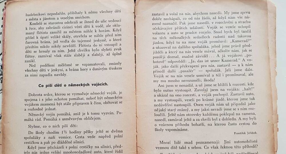 Čítanka pro české děti z protektorátní doby – Nová čítanka II., schválená výnosem ministerstva školství ze dne 5. října 1942, čís. 108.722/42-I/2 jako učebnice pro obecné školy s českým jazykem vyučovacím, cena (dobová K 13,-); Schulverlagsanstalt für Böhmen und Mähren in Prag (Školní nakladatelství pro Čechy a Moravu v Praze).