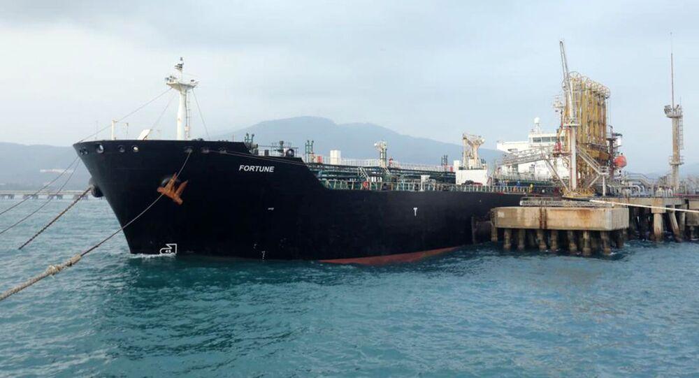 Íránský tanker Fortune ve Venezuele