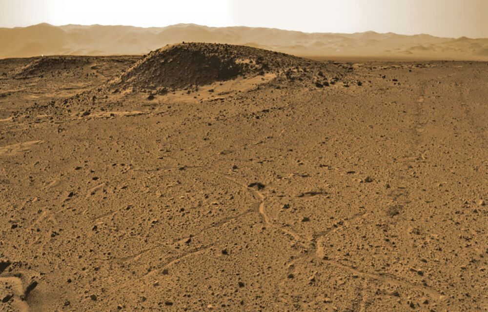 Pohled na terén Kimberley na planetě Mars