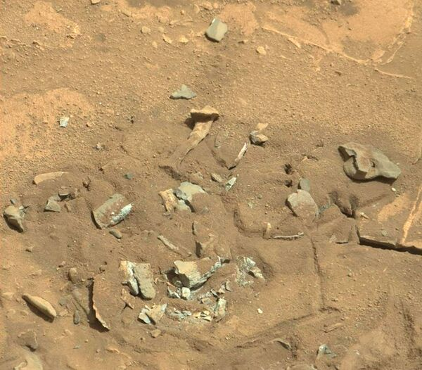 Útvar ve formě stehenní kosti na povrchu Marsu  - Sputnik Česká republika