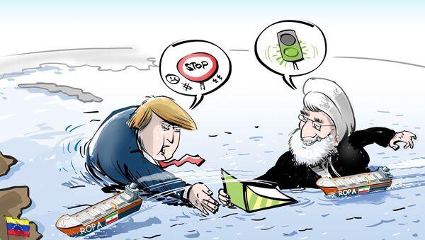 """Írán překonává benzínové embargo """"pod nosem"""" USA - Sputnik Česká republika"""