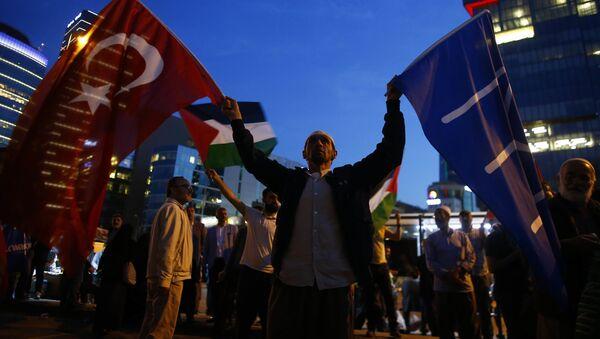 Protestní akce Istanbulu proti americkému velvyslanectví v Jeruzalému - Sputnik Česká republika