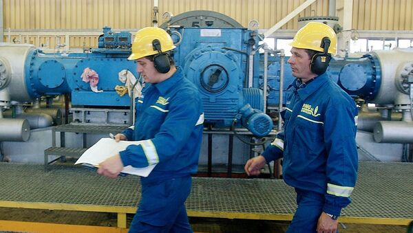 Pracovníci plynové společnosti PGNiG v Polsku - Sputnik Česká republika