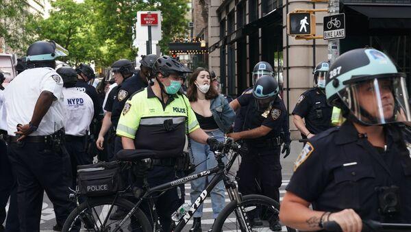 Protesty v New Yorku - Sputnik Česká republika