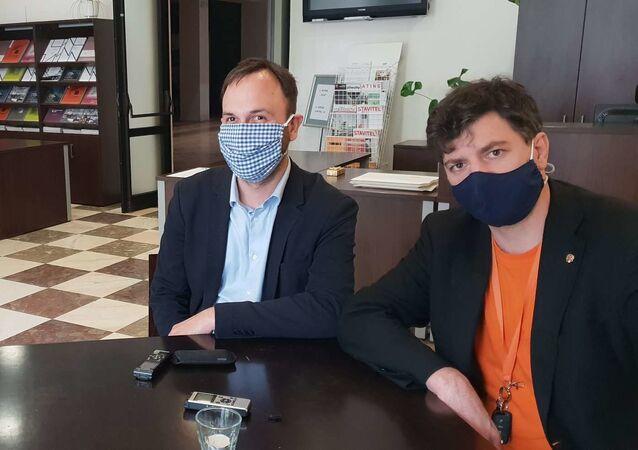 Fotograf týdeníku EURO, Jan Novotný a Vladimír Franta