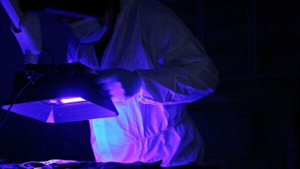 Vědec pracuje s ultrafialovým světlem - Sputnik Česká republika