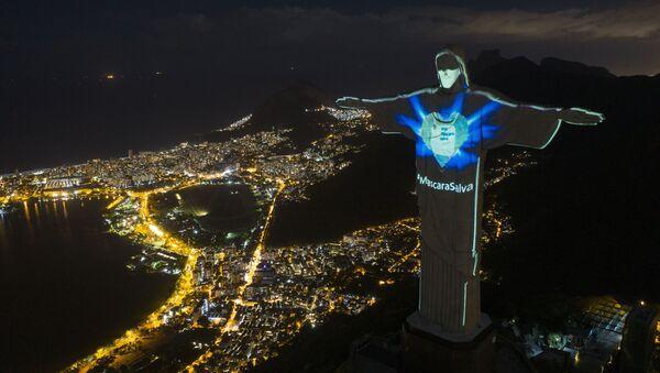 Socha Krista Spasitele v Rio de Janeiro, Brazílie - Sputnik Česká republika