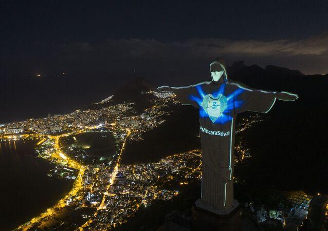 Socha Krista Spasitele v Rio de Janeiro, Brazílie