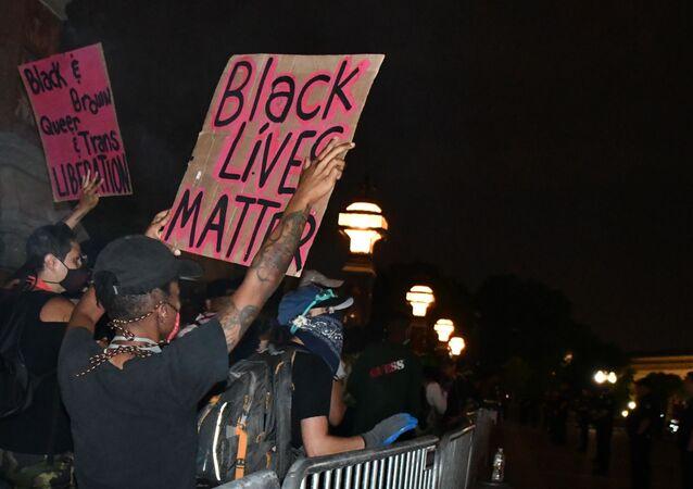 Protesty Black Lives Matter v USA. Ilustrační foto