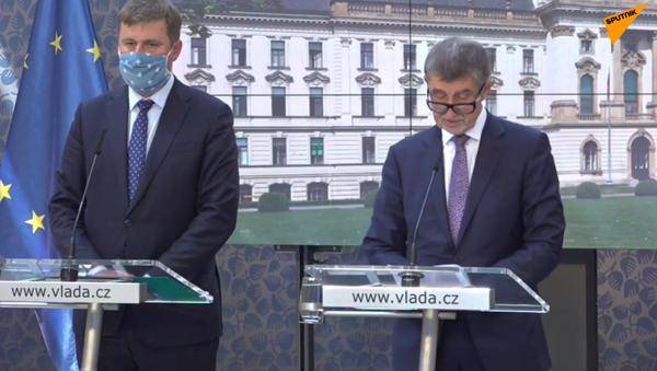 tisková konference premiéra Andreje Babiše a ministra zahraničních věcí Tomáše Petříčka - Sputnik Česká republika