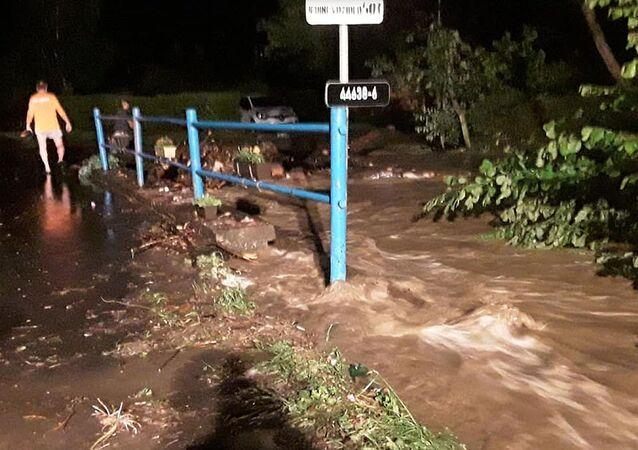 Lokální povodně na Olomoucku. Ilustrační foto