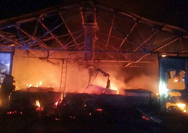 Požár v Nitře