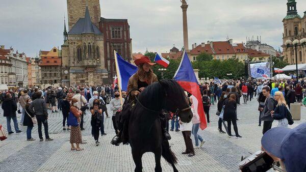 Staroměstské náměstí 9. června 2020 - Sputnik Česká republika