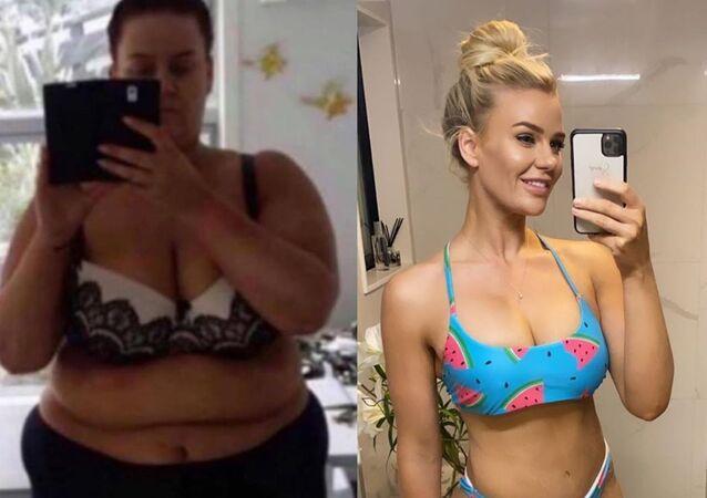 Bloggerka Simone Andersonová z Nového Zélandu, která dokázala zhubnout 92 kilogramů