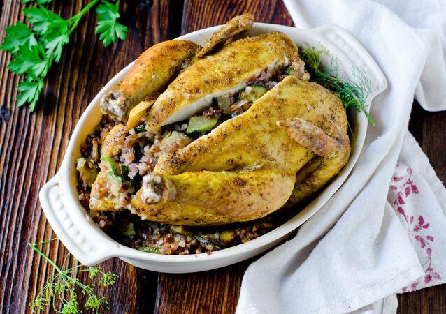 Lahodné kuře plněné nádivkou