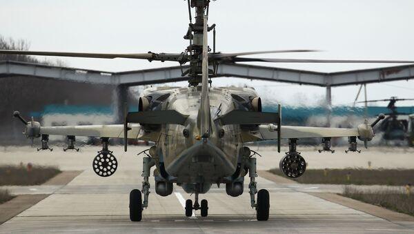 Bojový výzvědný útočný vrtulník nové generace Ka-52K - Sputnik Česká republika