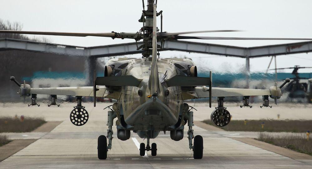 Bojový výzvědný útočný vrtulník nové generace Ka-52K