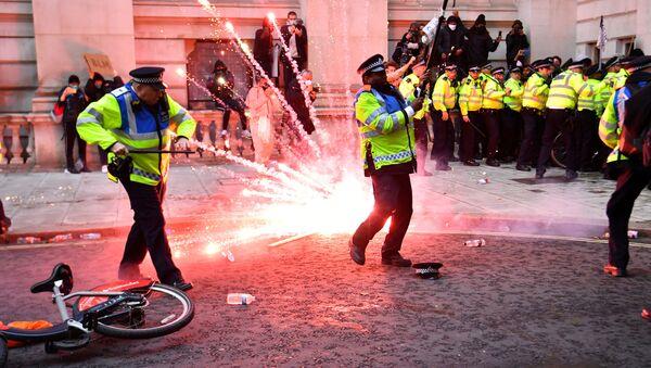 Protesty v Londýnu - Sputnik Česká republika