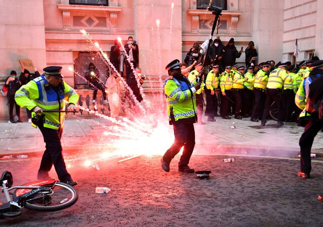 Protesty v Londýnu